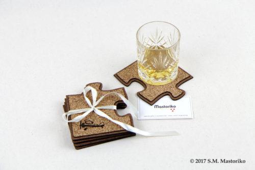 Ξύλινα Πατάκια με φελλό σε σχήμα πάζλ - Θέμα Αεροπλάνο - Vintage Plane - Wooden Coasters set of 4 - Μπομπονιέρες Βάπτισης - Μπομπονιέρες Γάμου - Δώρα για γενέθλια - παιδικά δωράκια - Δώρα για βάπτιση - Δώρα για επιχειρήσεις - Διακόσμηση για βάπτιση - Γάμος - Βάπτιση - Γενέθλια - Μαστορικό - Κύπρος