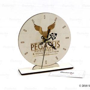 Ξύλινο ρολόι με λογότυπο - Δώρα για επιχειρήσεις - Εταιρικά διαφημιστικά δώρα - Μαστορικό - Κύπρος