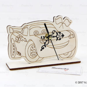 McQueen - Ξύλινο ρολόι γραφείου - Ρολόι για κομοδίνο παιδικού δωματίου - Μπομπονιέρες Βάπτισης - Μπομπονιέρες Γάμου - Δώρα για γενέθλια - παιδικά δωράκια - Δώρα για βάπτιση - Δώρα για επιχειρήσεις - Διακόσμηση για βάπτιση - Γάμος - Βάπτιση - Γενέθλια - Μαστορικό - Κύπρος