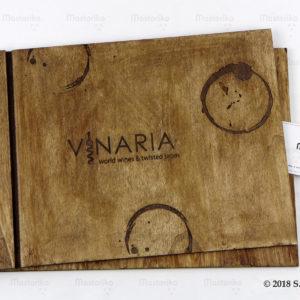 Μενού - Ξύλινα εξώφυλλα - Εστιατόριο - Ταβέρνα - Wine Bar - Τιμοκατάλογος φαγητών και ποτών - Διακόσμηση χώρου - Μαστορικό - Κύπρος