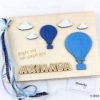 Βιβλίο Ευχών με θέμα Αερόστατο - Μπομπονιέρες Βάπτισης - Μπομπονιέρες Γάμου - Δώρα για γενέθλια - παιδικά δωράκια - Δώρα για βάπτιση - Δώρα για επιχειρήσεις - Διακόσμηση για βάπτιση - Γάμος - Βάπτιση - Γενέθλια - Μαστορικό - Κύπρος