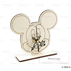 Ρολόι Mickey mouse - ξύλινο ρολόι - Μπομπονιέρες Βάπτισης - Μπομπονιέρες Γάμου - Δώρα για γενέθλια - παιδικά δωράκια - Δώρα για βάπτιση - Δώρα για επιχειρήσεις - Διακόσμηση για βάπτιση - Γάμος - Βάπτιση - Γενέθλια - Μαστορικό - Κύπρος