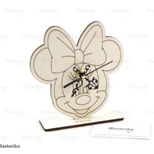 Ρολόι Minnie mouse - ξύλινο ρολόι - Μπομπονιέρες Βάπτισης - Μπομπονιέρες Γάμου - Δώρα για γενέθλια - παιδικά δωράκια - Δώρα για βάπτιση - Δώρα για επιχειρήσεις - Διακόσμηση για βάπτιση - Γάμος - Βάπτιση - Γενέθλια - Μαστορικό - Κύπρος