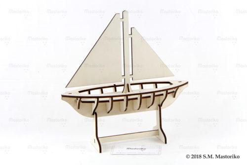Τρισδιάστατο Ξύλινο Καράβι - Wooden 3D Models 3DM-A (4)
