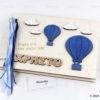 Βιβλίο ευχών για Βάπτιση με θέμα αερόστατο - Wishes Book - Βάπτιση - Μαστορικό - Κύπρος