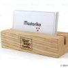 Ξύλινη χειροποίητη βάση για κάρτες εταιρίας - Oak solid Business card Holder - Διαφημιστικά δώρα για εταιρίες - Μαστορικό - Κύπρος