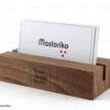 Ξύλινη χειροποίητη βάση για κάρτες εταιρίας - Wooden Business card Holder - Διαφημιστικά δώρα για εταιρίες - Μαστορικό - Κύπρος