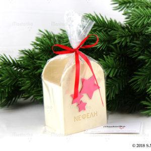Ξύλινη Μολυβοθήκη με αστέρια και όνομα- Χριστουγεννιάτικα Παιδικά δώρα - Δώρα Χριστουγέννων - Μαστορικό - S.M. Mastoriko - Κύπρος