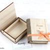 Ξύλινο κουτί για κοσμήματα - Wooden box book style - Δώρα γάμου - μπομπονιέρες γάμου - Μαστορικό - Κύπρος