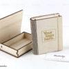 Ξύλινο κουτί με λογότυπο - Wooden box book style - Διαφημιστικά δώρα για εταιρίες - Μαστορικό - Κύπρος