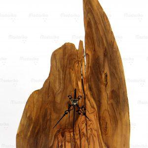 Χειροποίητο Ρολόι Κομοδίνου από φυσικό ξύλο ελιάς - Olive Wood Handmade Unique Clock - S.M. Mastoriko - Cyprus - Greece