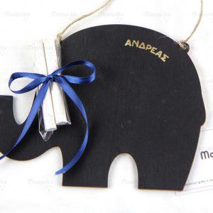 Ξύλινος Μαυροπίνακας με κιμωλίες σε σχήμα ελέφαντα - Δώρα γενεθλίων - Μπομπονιέρες βάπτισης - Κύπρο - Ελλάδα - Blackboard -Chankboard - S.M. Mastoriko BLACK-B4