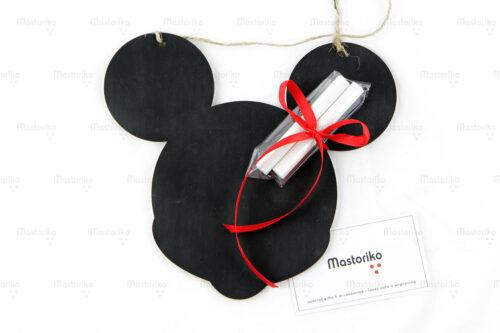 Ξύλινος Μαυροπίνακας με κιμωλίες σε σχήμα Mickey Mouse - Δώρα γενεθλίων - Μπομπονιέρες βάπτισης - Κύπρο - Ελλάδα - Blackboard -Chankboard - S.M. Mastoriko BLACK-B3